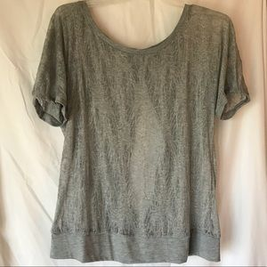 Loose Sheer v-back Anthropologie Top- Size XL